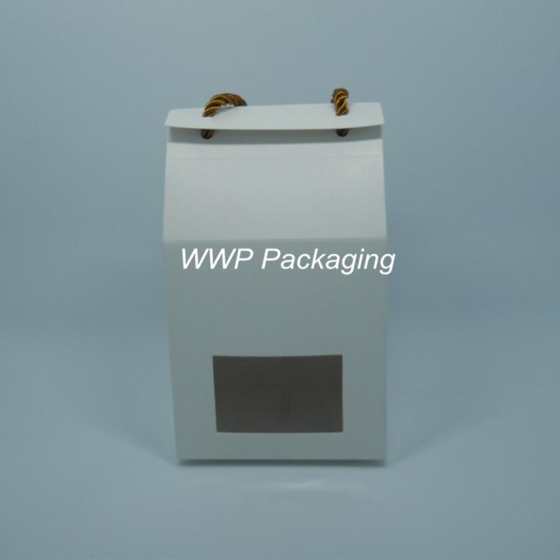 Dhl 10 8 11cm makeup diy soap stand up kraft paper box for 100 cm window box