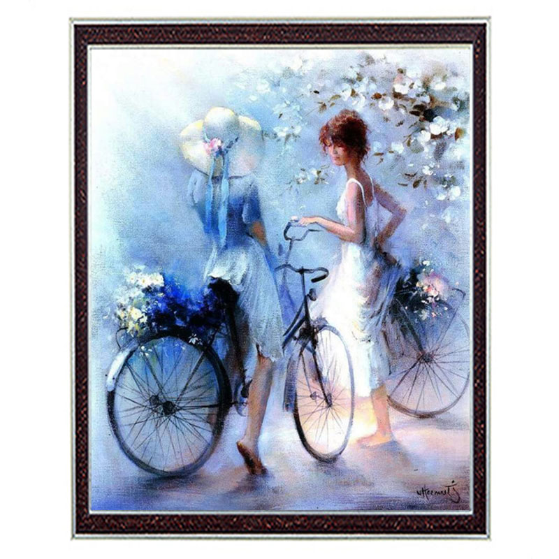 Needlework Crafts & Gifts 14CT unprinted embroidery French DMC Quality Counted Cross Stitch Kit DIY Oil painting Romance pattern(China (Mainland))
