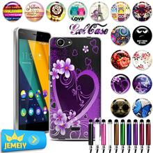 Wiko Series Pulp Fab 4G Rainbow UP Fever 3G Slide 2 Lenny 3 UV TPU Gel Case Back Cover Soft Temepered Glass - Kid actor Electronics Technology store