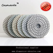 200# 4″(100mm)  wet diamond granite polishing pads,with premium quality and competitive price