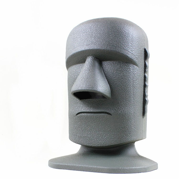 Easter island big moai tissue dispenser stone head facial tissue paper box holder in tissue - Nose tissue dispenser ...