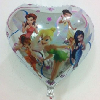 Гаджет  Free Shipping 20pcs/lot  heart tinkerbell elfin mylar balloon for birthday party fairy Aluminium foil ballons helium balloons None Игрушки и Хобби