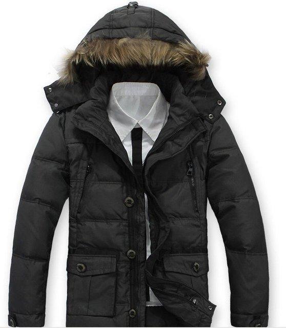 2012 Free Shipping , Fur Collar Man's Down Coat Winter Warm Down Jacket For Men Outwear Down,90%white duck down