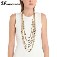Buy Dvacaman 2017 Fashion New Arrival Multilayer Maxi Tassel Pendant Statement Necklace Boho Trend Women Accessories Wholesale 7882 for $10.86 in AliExpress store