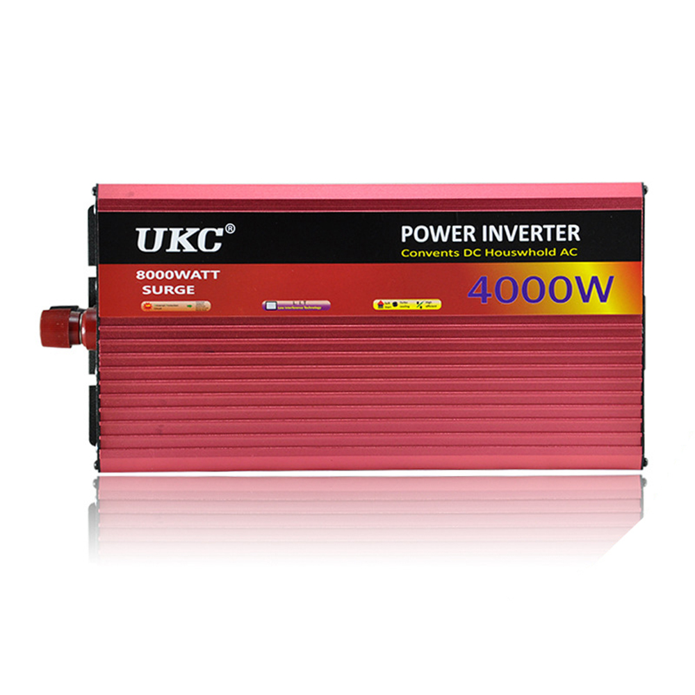 UKC 12V 4000W/4KW Modified Sine Wave Inverter 12V 220V Car power inverter -with Battery Cable full protection CY552-CN(China (Mainland))
