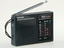 TECSUN R-202T FM/AM/TV Radio receiver Mini portable size. simple to control Economic battery consume than digital. Popular model
