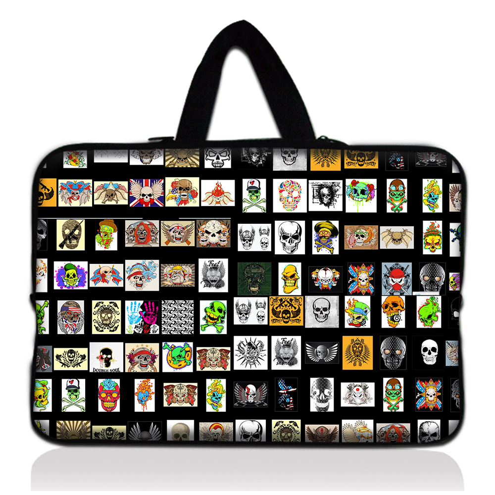 """personalized cool most skull soft neoprene laptop bag 15"""" 15.6 inch notebook bag case for macbook air/pro etc.(China (Mainland))"""