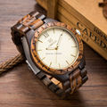 5 Colors Available 47 5mm Men Size Quality Wood Watch Gold Japan Import Movement Watch Wood