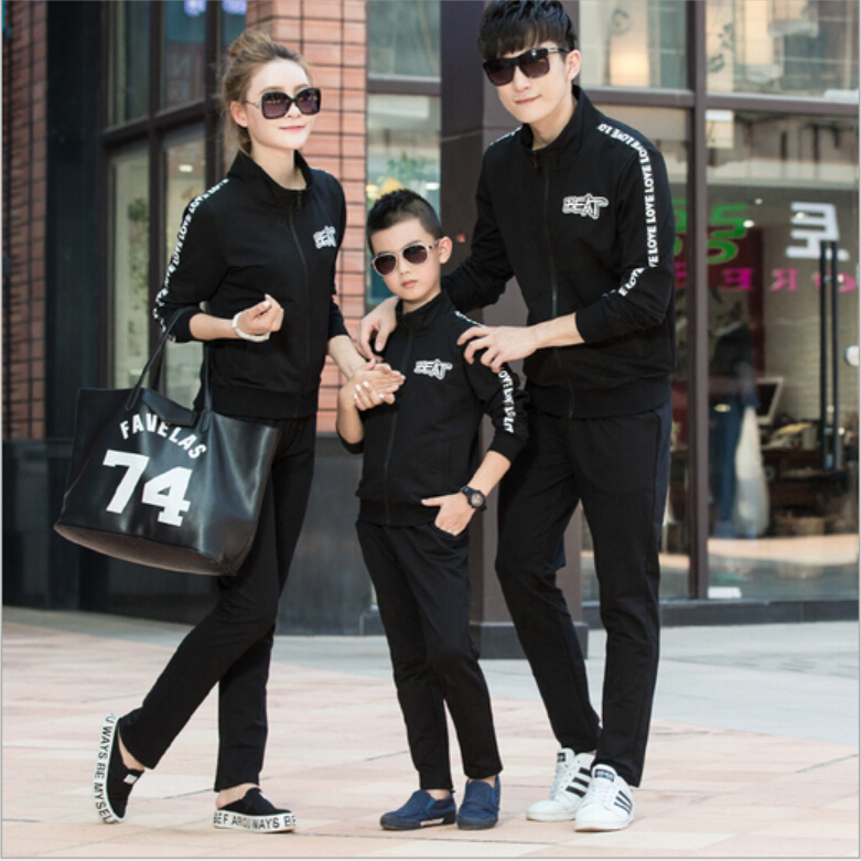 2016 new family matching clothes mother daughter outfits women sweatshirt fashion dad son sportswear pants mommy and me jacket<br><br>Aliexpress