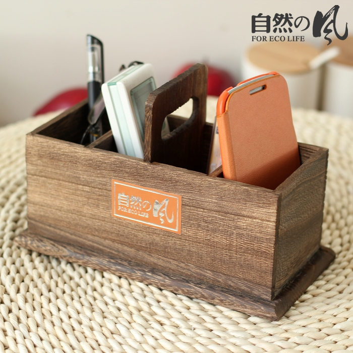 Natural paulownia portable remote control storage box(China (Mainland))