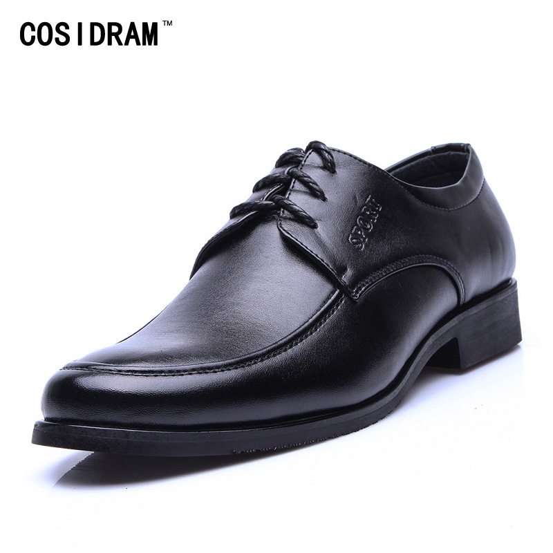 New 2016 Genuine Leather Men Oxfords Classical Business Men Dress Shoes Lace Up Flats Oxford Shoes For Men Male Footwear BRM-597(China (Mainland))