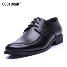 New 2016 Genuine Leather Men Oxfords Classicsl Business Men Dress Shoes Lace Up Flats Oxford Shoes For Men Male Footwear BRM-597