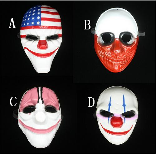 1pc PVC Scary Clown Mask Payday 2 Halloween Mask For Antifaz Party Mascara Carnaval for hot sale