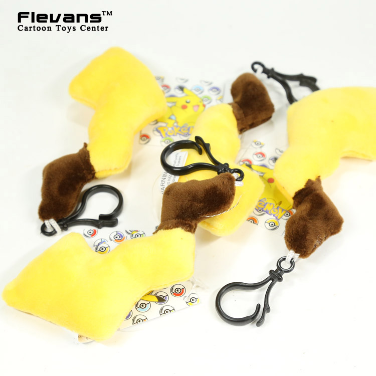 Anime Cartoon Pokemon Pikachu Tail Plush Toys with Ring 13cm Soft Stuffed Animal Dolls 10pcs/lot ANPT434(China (Mainland))