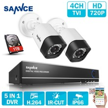 Buy SANNCE 4CH Security Camera System 2pcs 720P 1200tvl Surveillance Cameras 4 channels 1080N CCTV System 1 tb hdd for $83.99 in AliExpress store
