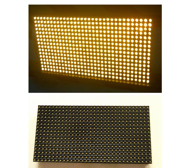 Best Price P10 Yellow color Outdoor Waterproof LED display module 32*16cm word scrolling message screen(China (Mainland))