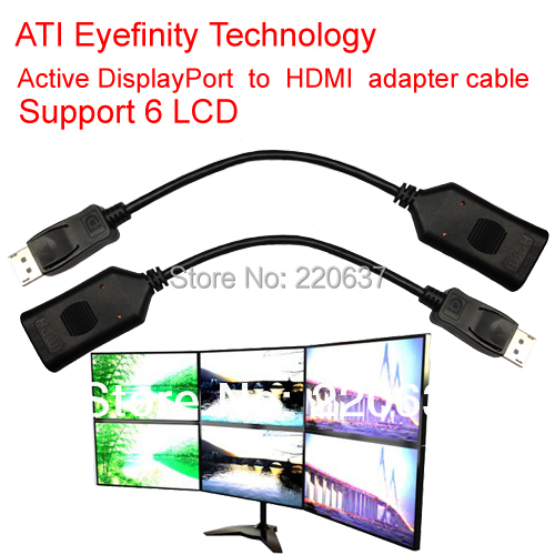 Active ATI Eyefinity DisplayPort HDMI adapter cable DP support 6 LCD - MooKoo Electronic Technology Co., Ltd. store