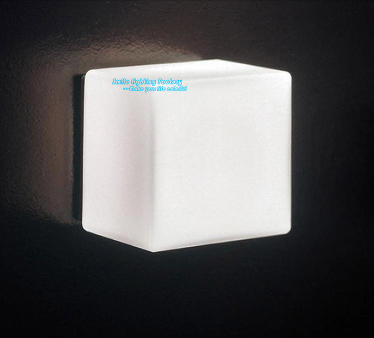 Modern Style Creative Cube Ice Wall Lamp White Scrub Glass Three Dimensional Lighting Fixture Sconce 1 Light - Smile Factory's store