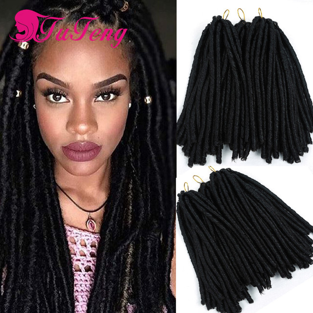 Top 14 inch crochet faux locs dreadlock braids soft Synthetic Hair ...