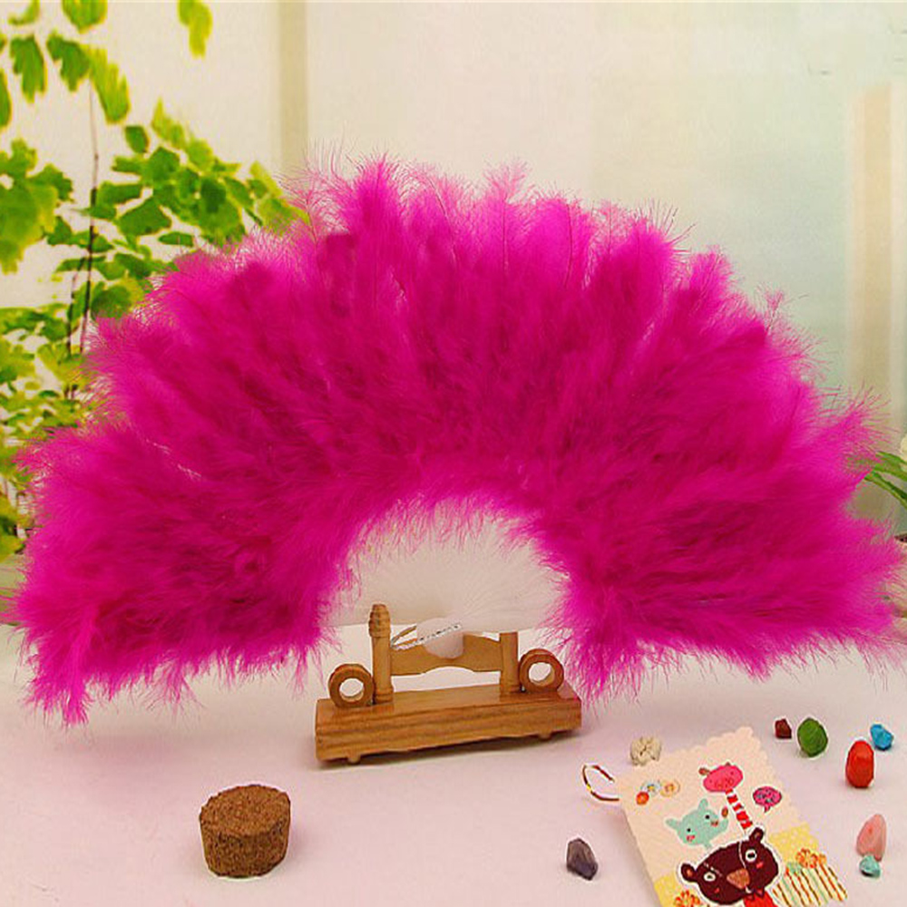 Newest Chinese Folding Fan Showgirl Dance Stage Show Feather Folding Hand Fan Pocket 2017(China (Mainland))