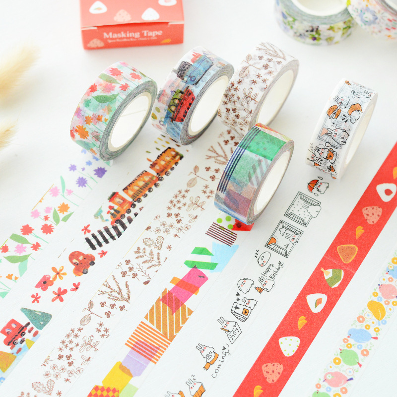 mixed size kawaii japan fashion washi tape sweet adhesive tapes set diy decoration supplies. Black Bedroom Furniture Sets. Home Design Ideas