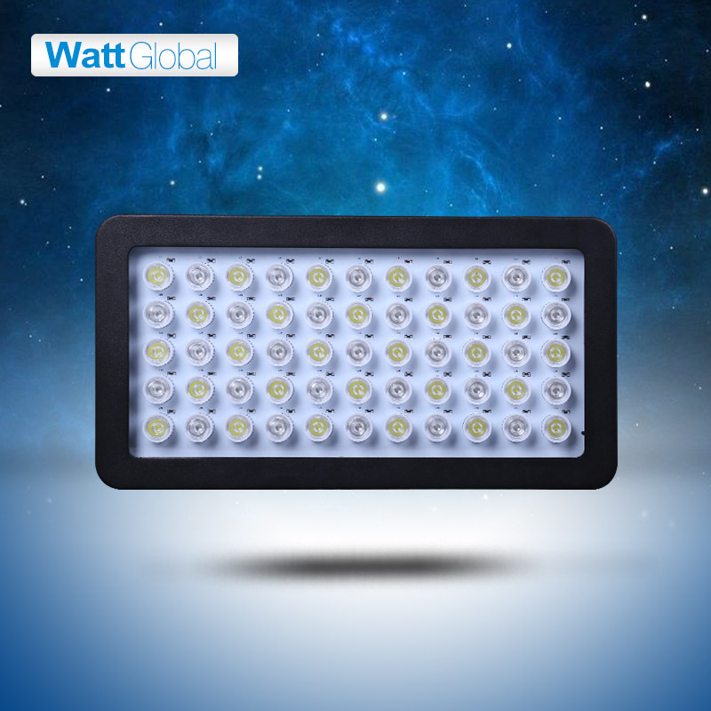 white and blue color 165W Dimmable led aquarium light built moonlight design Aquarium Lamp fish coral reef sps lps tank(China (Mainland))
