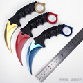 CS GO counter strike karambit knife outdoor Hunting camping knives Fighting Survival Tactical neck knife CSGO