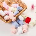 2 Pairs Children Cotton Socks for Girls Cute Candy Color Short Socks Spring Autumn Boy White