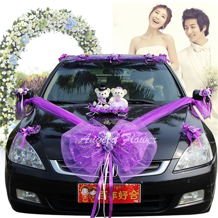 New eva foam wedding car flower loves bears and yarn for Aana decoration wedding accessories