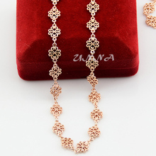 For Women Girls 8mm 18K Flowers Rose Gold Filled Necklace Rose Wholesale 18inch Jewelry Gift(China (Mainland))