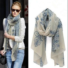 2015 New Style Fashion Vintage Girls Print Scarves