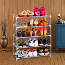 YoHere living room furniture portable shoe racks folding multilayer non woven fabric combination dustproof shoes shelf(China (Mainland))