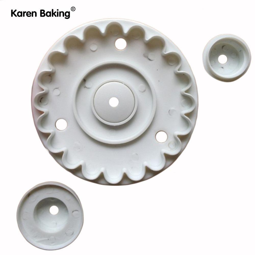 3PCS New Garrett Frill Cutter Plunger Sugar Craft Cake Decoration Mold Tools -A116(China (Mainland))