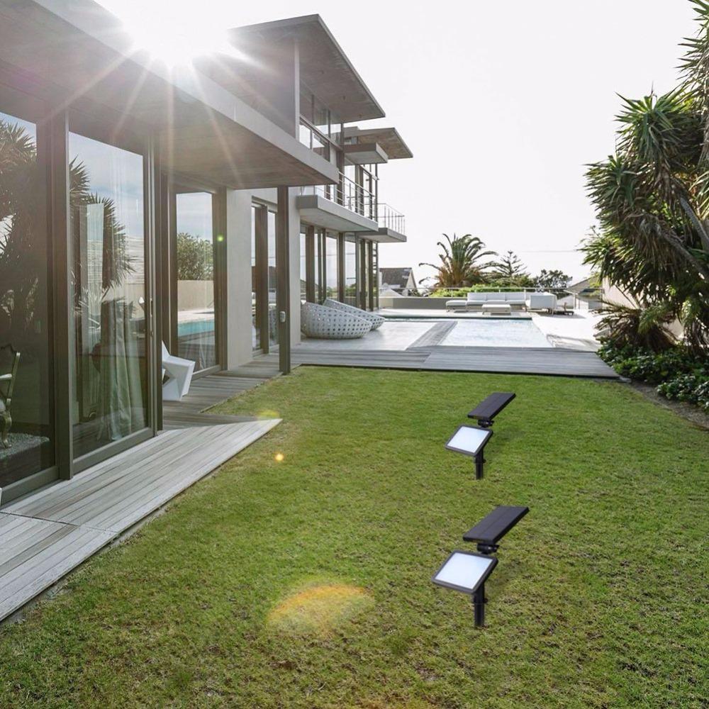 2 PACK Solar Lamp Spotlights Outdoor Lighting 48 leds Solar Light IP44 Waterproof Landscape Wall Light Adjustable for Garden
