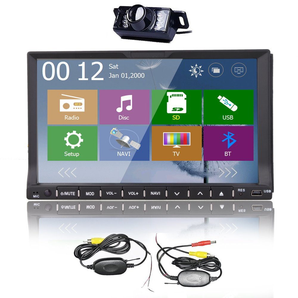 GPS Car CD DVD Player Stereo Radio Audio WinCE 8.0 system navigation Monitor with MP3/USB/BT/SD with WIRELESS rear camera !(China (Mainland))