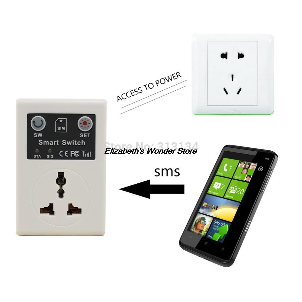 1pc 220v EU Plug Cellphone Phone PDA GSM RC Remote Control Socket Power Smart Switch interruptor switches