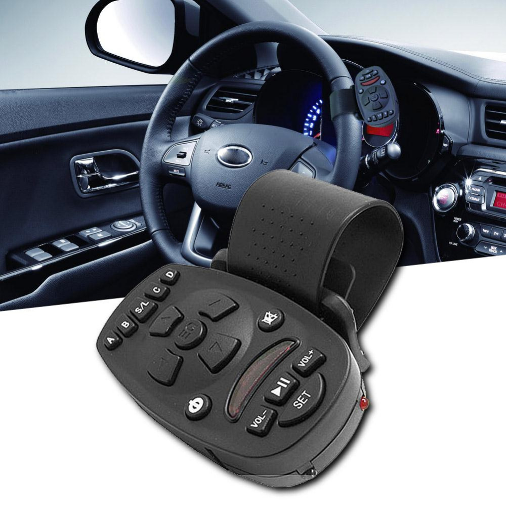 1PCS Steering Wheel IR 433mhz Universal Remote Control For Car Video DVD GPS MP3 16 keys High-capacity Memory Controle Remoto(China (Mainland))