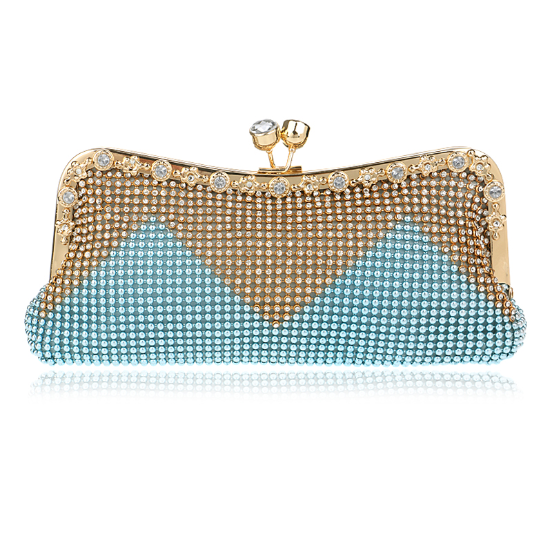 Evening Bags Women Clutch Bags Crystal Gold Handbag Wedding Bridal High Quality Small Purse Bag ...