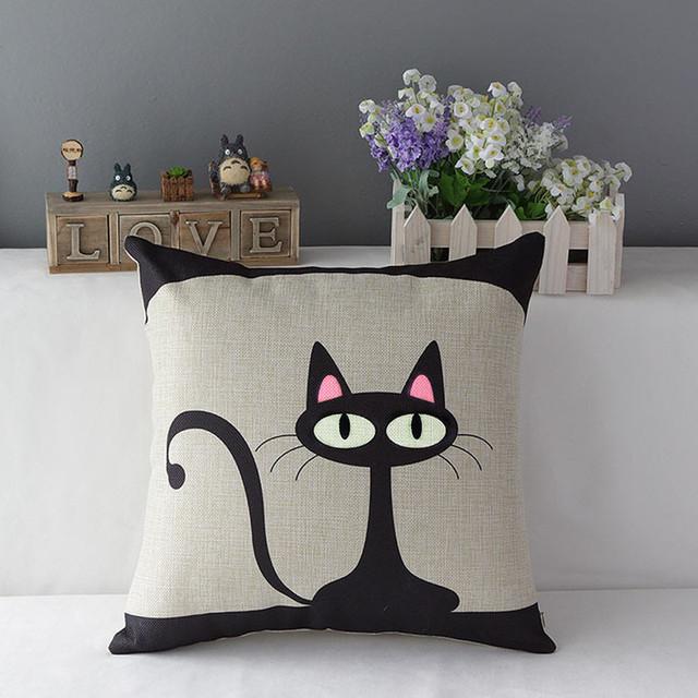 Comprar gato de la historieta coj n - Cojines modernos para sofas ...
