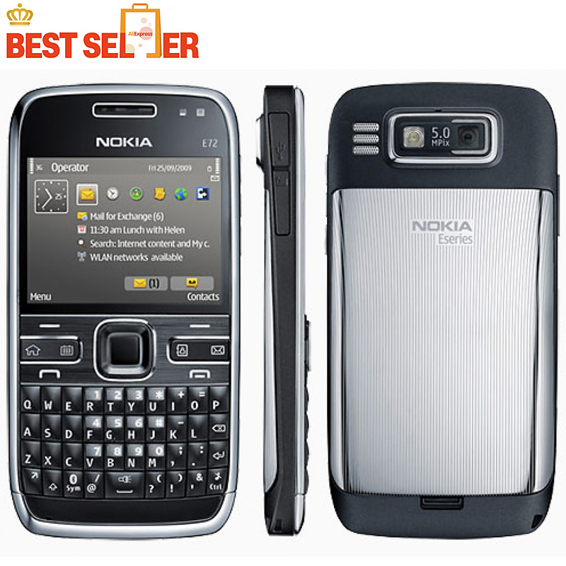 Unlocked Original Nokia E72 cell phones 5MP Camera Wifi Bluetooth FM GPS phone QWERTY Keyboard(China (Mainland))