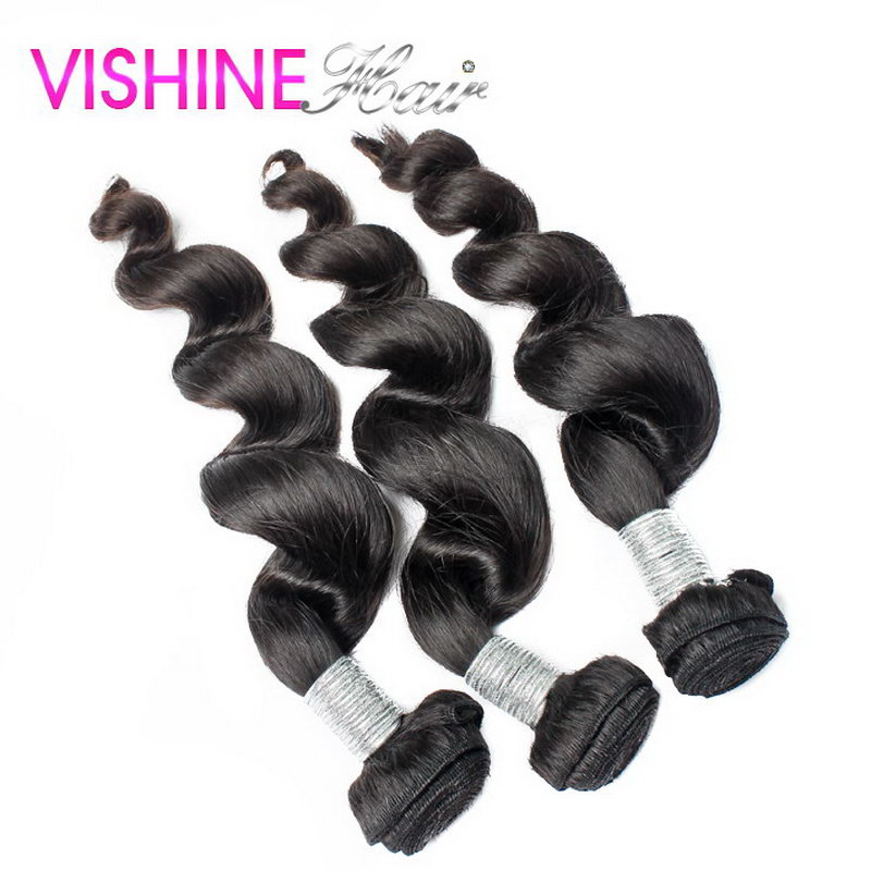 Malaysian Loose Wave 3Pcs Human Hair Weave Ms Lula Virgin Hair Malaysian Unprocessed Hair Extension No shedding free shipping <br><br>Aliexpress