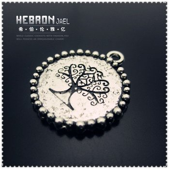 Free shipping(50pieces)Silver Jewelry Tree Pendant(3313#)wholesale and retail Fashion Jewelry Accessory/Pendant Accessory