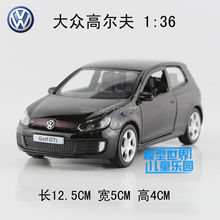 High Quality 1:36 Scale 5 Inch Alloy Diecast Car Model Golf GTI Collection Model Pull Back Car Toys Gift For Boys(China (Mainland))