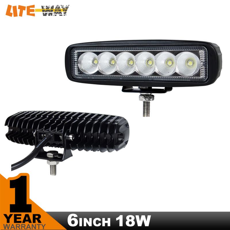 6inch 18w mini led bar 12v led work light spot flood fog lamp for off road boat truck atv 4x4. Black Bedroom Furniture Sets. Home Design Ideas