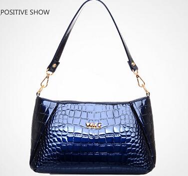 NO.1 Women Genuine Leather Handbags Patent Women Leather Bags Fashion Women's Shoulder Bags Crocodile Women Messenger Bags SJ16
