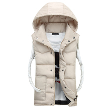 Hot Sale Stars Loves Brand New Arrival Slim Man Vest 2015 Autumn Winters Hooded Cotton Padded Men's Vests(China (Mainland))