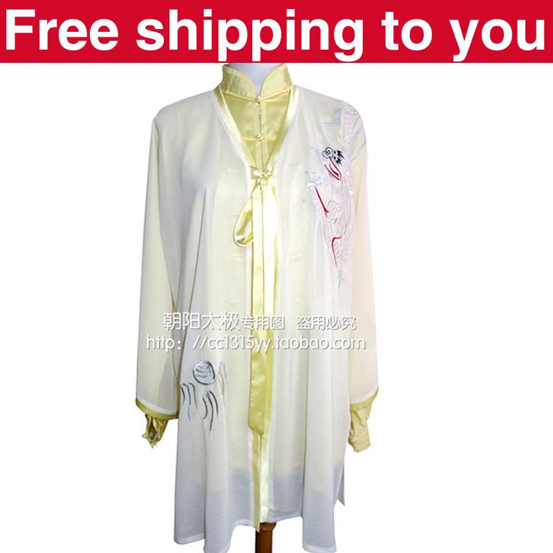 Free shipping Chinese Tai chi clothing/Martial arts/taij performance shawl wushu/dragon embroidery/women/children/girl/boy/men<br><br>Aliexpress
