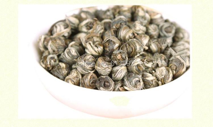 100g 100% Jasmine dragon pearls tea,jasmine dragon balls,green tea,jasmine flavor tea ,free shipping(China (Mainland))