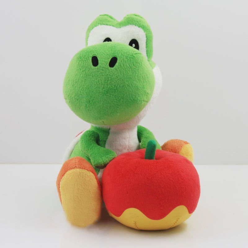 Hot New Nintendo Super Mario Bros Plush Toy Green Yoshi Stuffed Animal Doll 6in(China (Mainland))