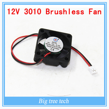 5pcs High quality 3010s 30MM 30 x 30 x 10MM 12V 2Pin DC Cooler Small Cooling Fan FOR 3D PRINTER PART  with free shipping